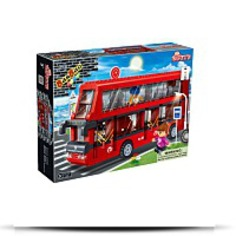 Buy Now Double Decker Bus Toy Building Set