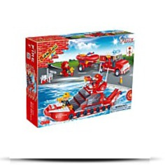 Fire Car And Ship Toy Building Set