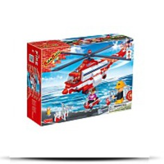 Fire Helicopter Toy Building Set