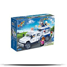 Police Car Toy Building Set