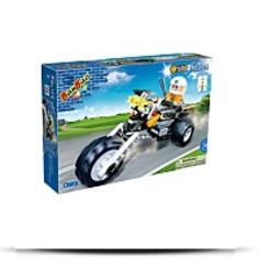 Police Chopper Toy Building Set