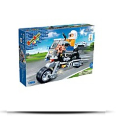 Police Motorcycle Toy Building Set