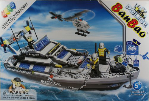 Civil Services Large Set Police Boat