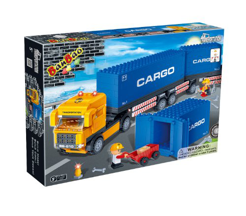 Container Truck Toy Building Set