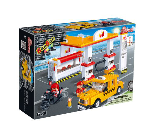 Gas Station Toy Building Set