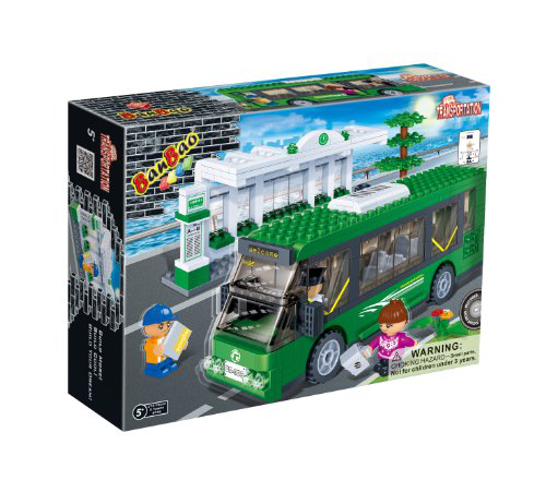 Bus Station Toy Building Set