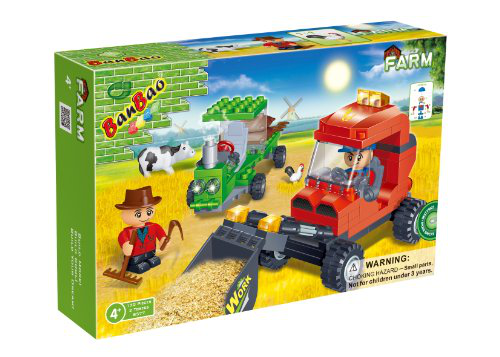 Farm Workers Toy Building Set
