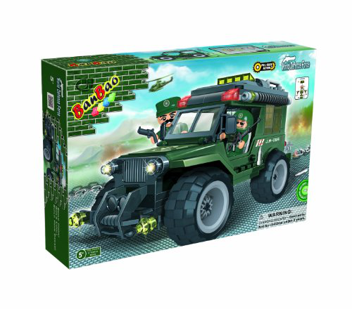 Military Jeep Toy Building Set