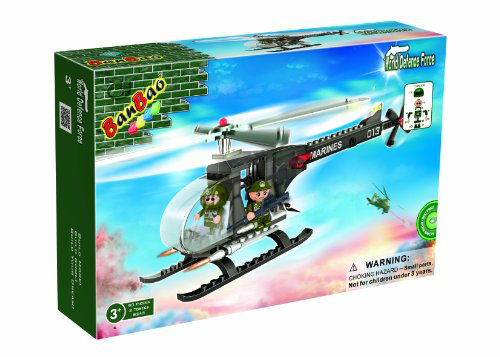 Ban Bao M2 Helicopter Toy Building Set, 90-PIECE
