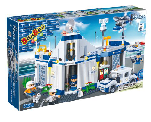 Police Station Toy Building Set