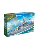 Navy Boat Toy Building Set